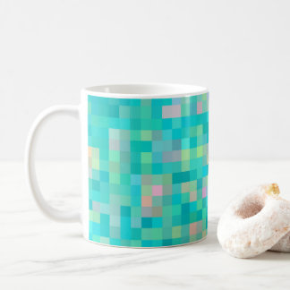 Taza De Café Modelo multicolor del arte del pixel