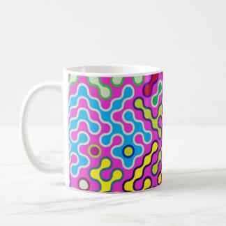 Taza De Café Modelo psicodélico abstracto colorido del arte pop