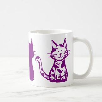 Taza De Café Modelo púrpura de los gatos