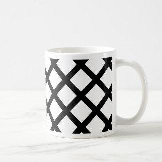 Taza De Café Modelo simple blanco y negro