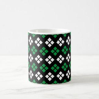 Taza De Café Modelo verde y blanco de Kelly moderno de Argyle