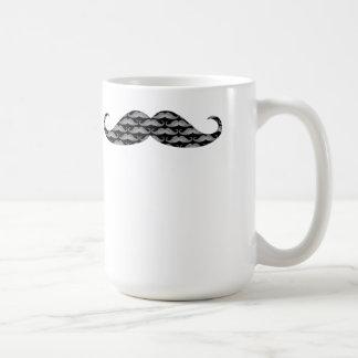 Taza De Café Modelos frescos del bigote del Grayscale