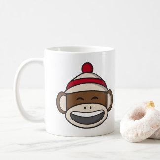 Taza De Café Mono grande Emoji del calcetín de la sonrisa