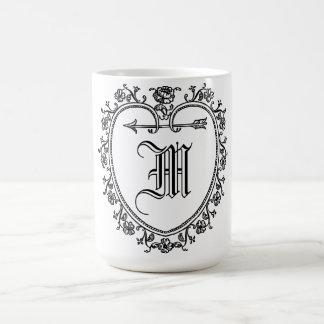 Taza De Café Monograma personalizado de la inicial del nombre