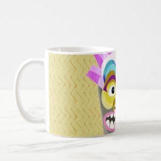 Taza De Café Monstruo divertido de la choza de Tiki de la