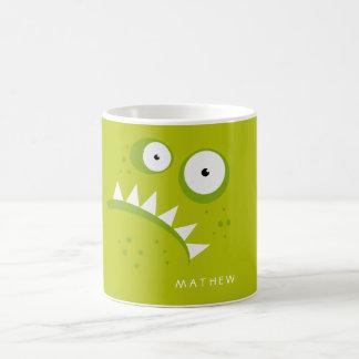 Taza De Café Monstruo verde asustadizo divertido enojado gruñón