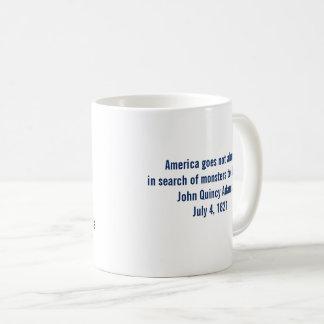 Taza De Café Monstruos de la sociedad de John Quincy Adams para