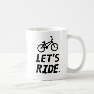 Taza De Café Montemos el humor del ciclista de la ciudad y de