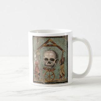 Taza De Café Mosaico del cráneo de Roma Pompeya