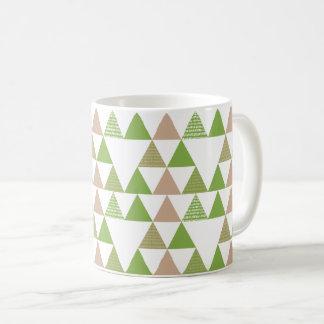 Taza De Café Mosaico geométrico del árbol de la col rizada del