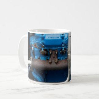 Taza De Café Motor azul del tractor