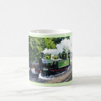 Taza De Café Motor de vapor en la isla del hombre