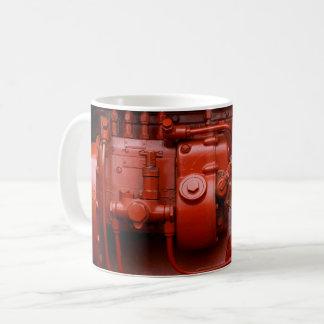 Taza De Café Motor rojo del tractor