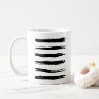 Taza De Café Movimientos negros y blancos minimalistas del