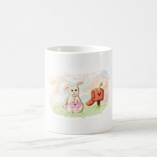 Taza De Café Mug conejito tierno amor san valentin