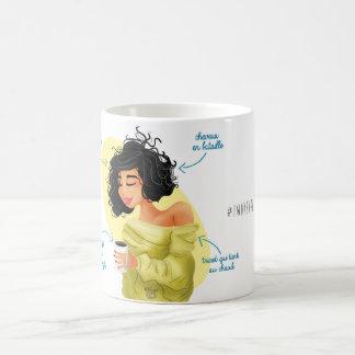 "Taza De Café Mug Illustré Girly ""I woke up like this """