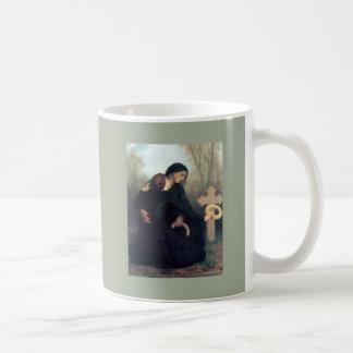 Taza De Café Mujeres góticas Bouguereau de la cruz negra del