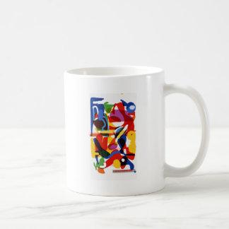 Taza De Café Mundo abstracto de la MOD
