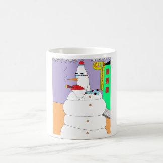 Taza De Café Muñeco de nieve de la parte alta