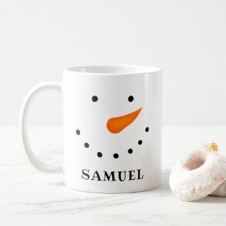 Taza De Café Muñeco de nieve personalizado