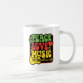 Taza De Café Música del amor de la paz de Rasta