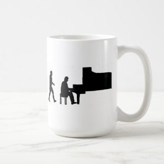 Taza De Café músico de la música del pianista del piano del