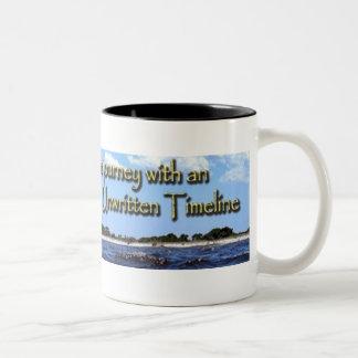 Taza de café na escrito de la cronología