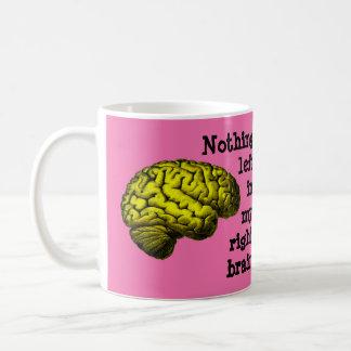 Taza De Café Nada dejada en mi cerebro derecho…