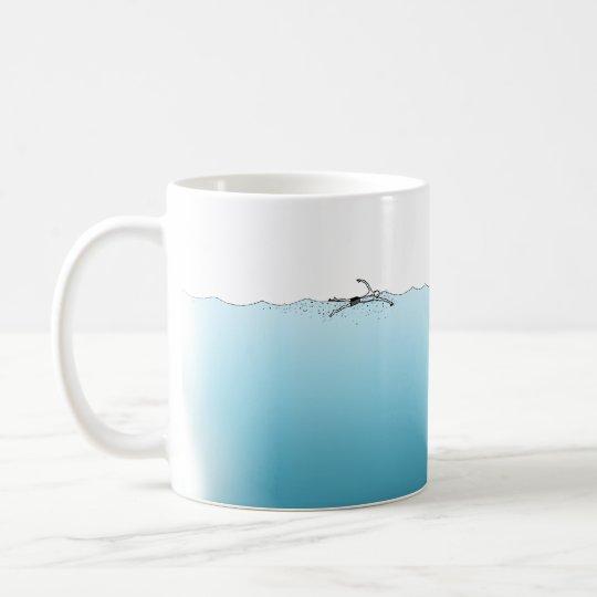 Taza De Café Nadando Voy