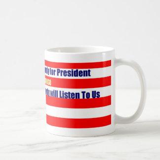 Taza De Café Nadie para presidente Mug