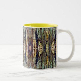 Taza de café nativa del arte de la naturaleza de