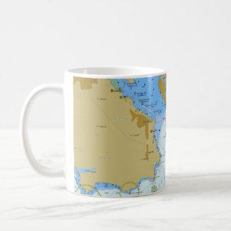 Taza de café náutica de la carta
