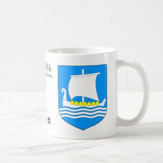Taza De Café Nave de Viking en el mar de Saaremaa Estonia