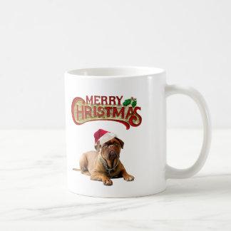 Taza De Café Navidad Bordeauxdog