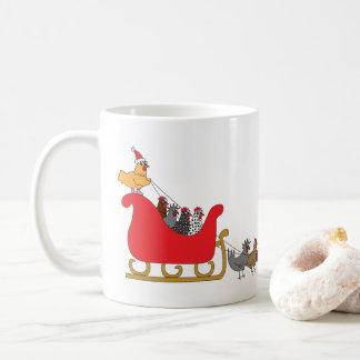Taza De Café Navidad de los pollos