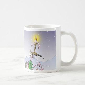 Taza De Café Navidad de Yorkshire del amor felices