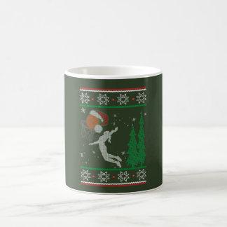 Taza De Café Navidad del baloncesto