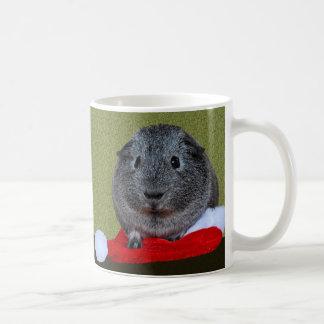 Taza De Café Navidad del conejillo de Indias