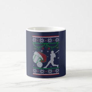Taza De Café Navidad del softball
