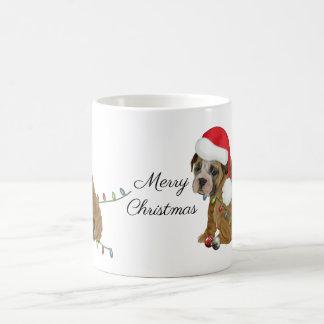 Taza De Café Navidad inglés del perrito del dogo