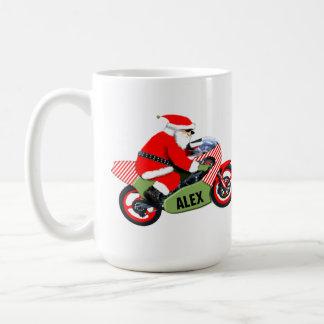 Taza De Café navidad personalizado del motorista
