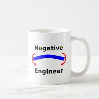 Taza de café negativa del ingeniero