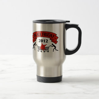 Taza de café negra de viernes