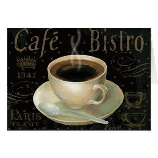 Taza de café negra tarjeta
