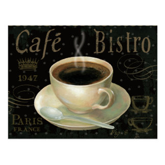 Taza de café negra postal