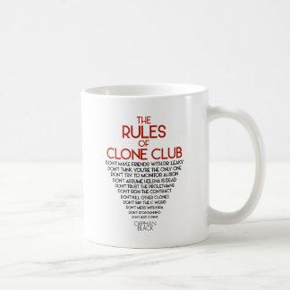 Taza De Café Negro huérfano el | las reglas de club de la copia