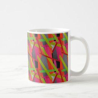 Taza De Café Neón moderno del arte de la cinta