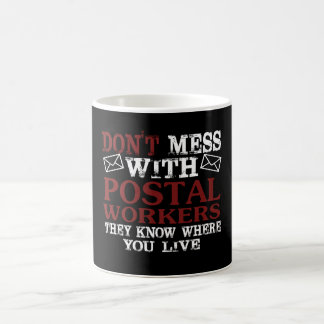 Taza De Café No ensucie al empleado de correos