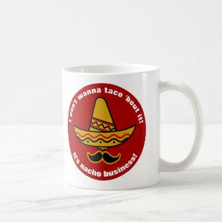 Taza De Café No lo quiero al combate del Taco sombrero mexicano