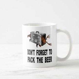 Taza De Café No olvide embalar la cerveza